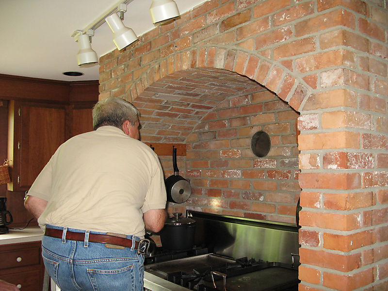 Tom, above stove